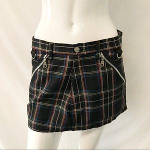 Hot Topic Punk Goth Plaid Miniskirt